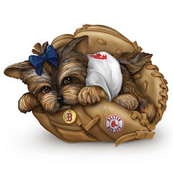 Boston Red Sox Yorkie Figurine