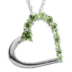 Sterling Silver Journey August Birthstone Heart Pendant