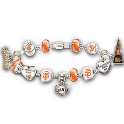 San Francisco Giants Charm Bracelet with Swarovski Crystal