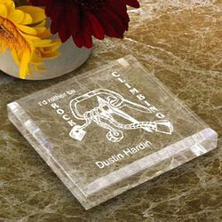 Personalized Rock Climbing Paperweight