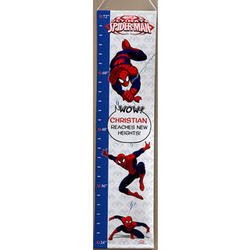 Personalized Spider-Man Growth Chart