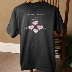 Happiness is Children Black T-Shirt