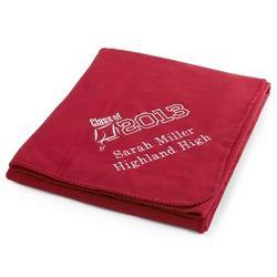 Graduation Red Fleece Blanket