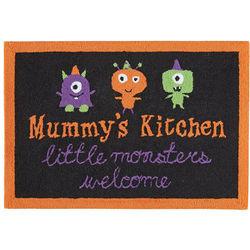 Mummy's Kitchen Halloween Hooked Rug