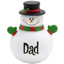 Large Personalized Snowman with Top Hat Figurine