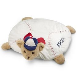 Plush Baseball Belly Blanket