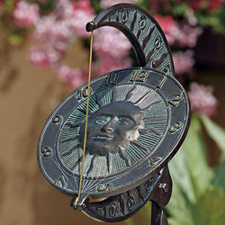 Handcrafted Sun and Moon Sundial