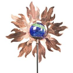 Sun Pinwheel Wind Spinner with Glow Ball