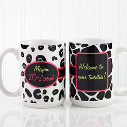 Ladies Flirty-Licious Personalized Birthday Coffee Mug
