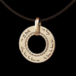Beloved's Kaballah Ring Pendant