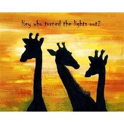 Sunset Giraffes Print