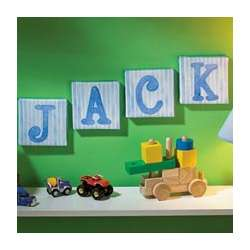 Personalized Baby Boy Blue Canvas Letter