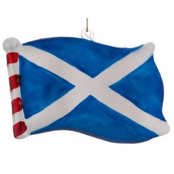 Scotland Flag Personalized Christmas Ornament