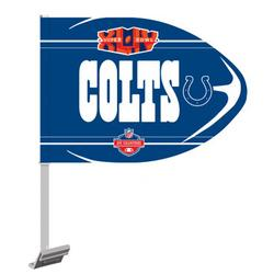 Indianapolis Colts 2009 AFC Champions Football Shaped Car Flag