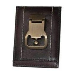 bottle opener money clip leather front pocket wallet. Black Bedroom Furniture Sets. Home Design Ideas
