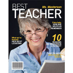 Personalized Best Teacher Magazine Cover
