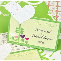 Heart Plantable Seed Wedding Place Cards