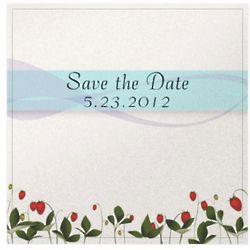 Strawberry Flowers Invitation