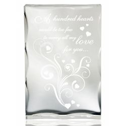 Hundred Hearts Lucite Plaque
