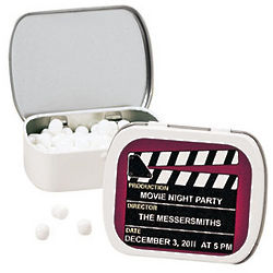 Personalized Movie Night Mint Tin Favors