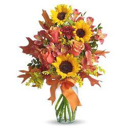 Warm Embrace Autumn Flower Bouquet