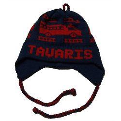 Personalized Fire Truck Ear Flap Hat