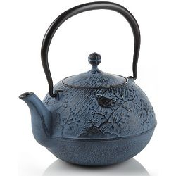 Blue Maromi Bird Cast Iron Teapot