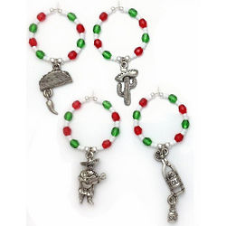 Mexico Margarita and Wine Glass Charms