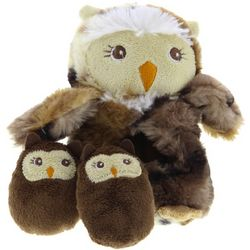 Owl with Babies Dog Toy