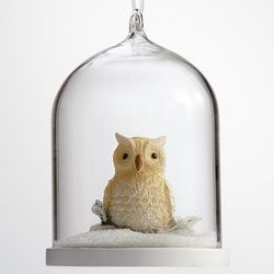 Owl Glass Globe Ornament