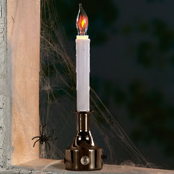 Antique Brass Halloween Electric Candle