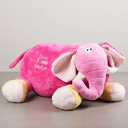 Personalized God Bless You Elephant Pillow Buddy Toy