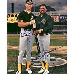 Mark McGwire and Reggie Jackson Oakland A's Dual Autographed 8x10