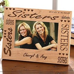 A Sister's Bond Personalized Photo Frame