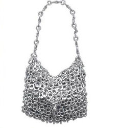 Mini-Shimmery Silver Soda Pop-Top Bag