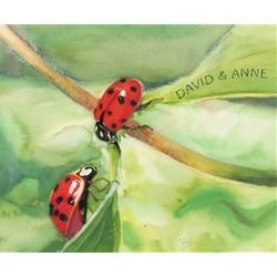 Ladybugs Personalized Fine Art Print