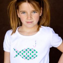 Personalized Polka Dot Fish Tee Shirt