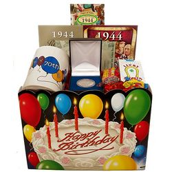 70th Birthday Gift Basket