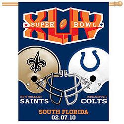 Super Bowl XLIV Indianapolis Colts/New Orleans Saints Flag