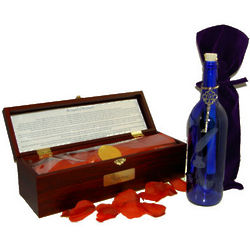 Legend of the Writer Message Bottle and Wood Chest