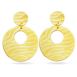 Exotic 14K Yellow Gold Earrings