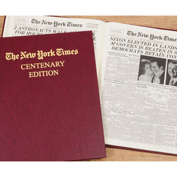 Personalized New York Times Centenary Book