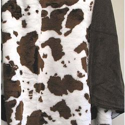 Brown Cow Throw Blanket