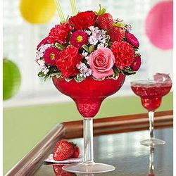 Strawberry Margarita Bouquet of Flowers