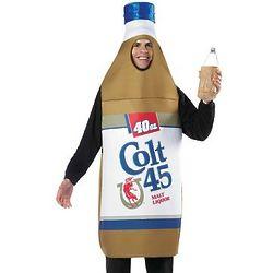 Adult Colt 45 40-ounce Bottle Costume