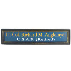 Personalized Air Force Hanging Nameboard Sign