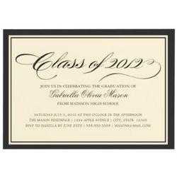 Elegant 2012 Graduation Party Invitations
