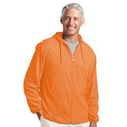 Men's Orange Sunblock Jacket UPF 50+