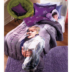 Justin Bieber Pillow and Twin Comforter Set