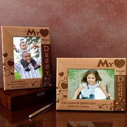 Personalized My Heart Belongs to Daddy Wooden Picture Frame